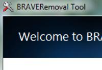 Screenshot programu BRAVE Removal Tool 1.0
