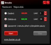Screenshot programu Breaks 1.0