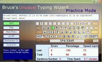 Screenshot programu Bruce's Unusual Typing Wizard 1.4