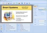 Screenshot programu Business Card Maker 5.0