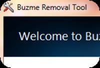 Screenshot programu Buzme Removal Tool 1.0
