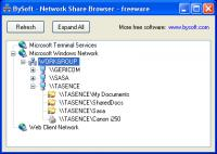 Screenshot programu BySoft Network Share Browser 1.0
