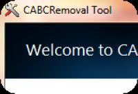 Screenshot programu CABC Removal Tool 1.0