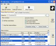 Screenshot programu CAM UnZip 4.5