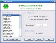 Screenshot programu Camtech Euro Converter 1.0.0