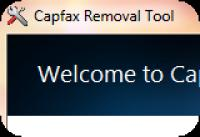 Screenshot programu Capfax Removal Tool 1.0