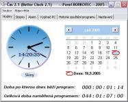 Screenshot programu Čas (Better Clock 2.1) 2.1