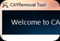 Screenshot programu CAY Removal Tool 1.0