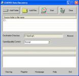 Screenshot programu CD/DVD Data Recovery 1.1