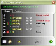 Screenshot programu CD-DVD Lock 2.9