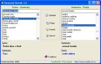 Screenshot programu česko - Hantecký slovník 3.0