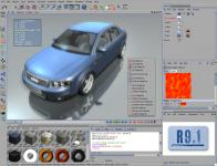 Screenshot programu CINEMA 4D R11.021
