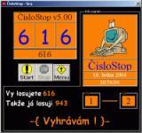Screenshot programu číslostop 5.10
