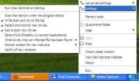 Screenshot programu Clam Sentinel 1.20