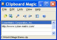 Screenshot programu Clipboard Magic 5.01
