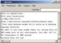 Screenshot programu Cliptastic 1.00