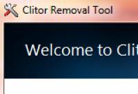 Screenshot programu Clitor Removal Tool 1.0