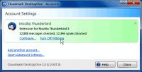 Screenshot programu Cloudmark DesktopOne Basic 1.0.1040