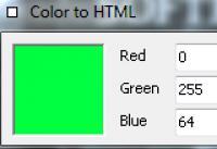 Screenshot programu Color to HTML 1.00