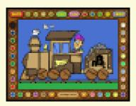 Screenshot programu Coloring Book 5: Alphabet train 4.22.98
