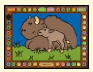 Screenshot programu Coloring Book 13: Baby animals