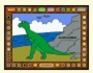 Screenshot programu Coloring Book 2: Dinosaurs 4.22.05