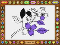 Screenshot programu Coloring book 4: Plants 4.22.06