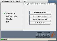 Screenshot programu Complete CD/DVD Writer 1.5
