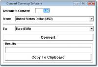 Screenshot programu Convert Currency Software 7.0