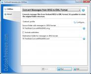 Screenshot programu Convert Messages from MSG to EML Format 2.3