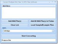 Screenshot programu Convert Multiple M4A Files To MP3 Files Software 7.0