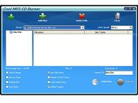 Screenshot programu Cool Music CD Burner 7.4.3.193