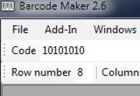 Screenshot programu Csomar Barcode Maker 2.6