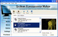 Screenshot programu Cyclone Screensaver Maker 4.10