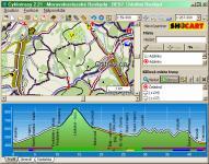Screenshot programu Cyklotrasy 2.19 SK