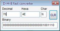 Screenshot programu D-H-B fast converter 1.0