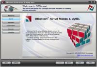 Screenshot programu DBConvert for MS Access & MySQL 8.0.2