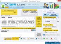 Screenshot programu DRPU Bulk SMS for Android 9.0.1.2