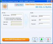 Screenshot programu DRPU Database Converter - MS SQL to MySQL 4.0.1.6