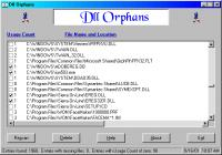 Screenshot programu Dll Orphans 1.0