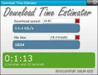 Screenshot programu Download Time Estimator 1.0