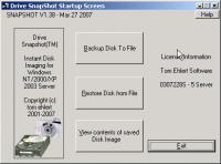 Screenshot programu Drive Snapshot 1.43