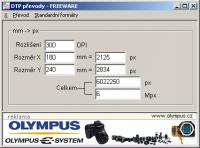 Screenshot programu DTP převody