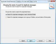 Screenshot programu Duplicate Email Remover 2.18.0