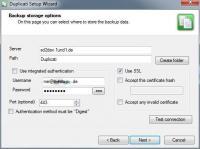 Screenshot programu Duplicati 1.3.3.1457