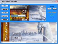Screenshot programu DVD-Cover Printmaster 1.4
