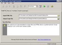 Screenshot programu Easy HTML To Any Script Converter 1.4.1
