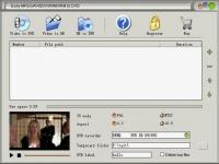 Screenshot programu Easy MPEG/AVI/DIVX/WMV/RM to DVD 2.0.16