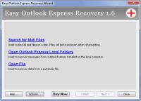 Screenshot programu Easy Outlook Express Recovery 2.0
