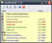 Screenshot programu EasyReminder 1.2.3.37